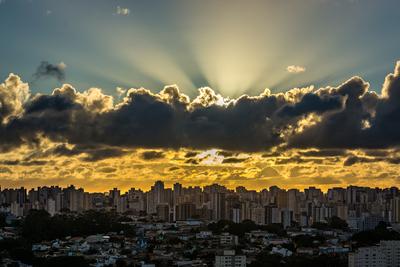 Fim de tarde em São Paulo