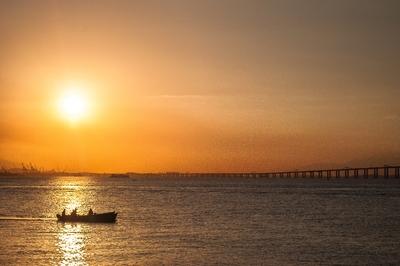 Pescaria ao por do Sol