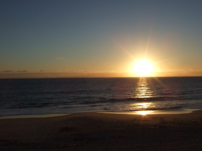 Por do sol em Cottesloe