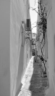 Ruas Brancas e estreitas de Mykonos
