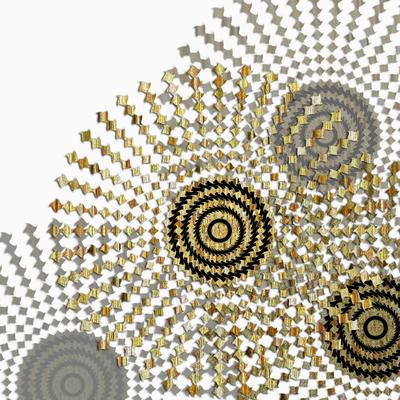 Abstrato Dourado - Círculos 14