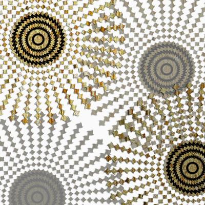 Abstrato Dourado - Círculos 15