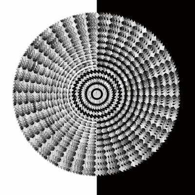 Abstrato Preto e Branco - Círculos 19