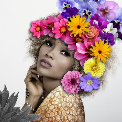 Mulher Flores Coloridas - 01
