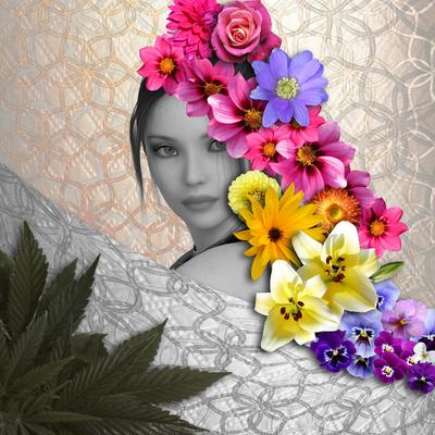 mulher Flores Coloridas - 02