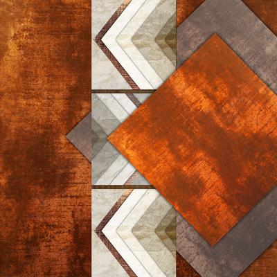 Abstrato Rústico Bronze - Estone 02