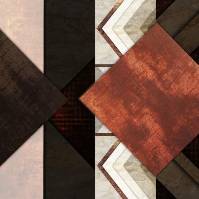 Abstrato Rústico Bronze - Estone 08