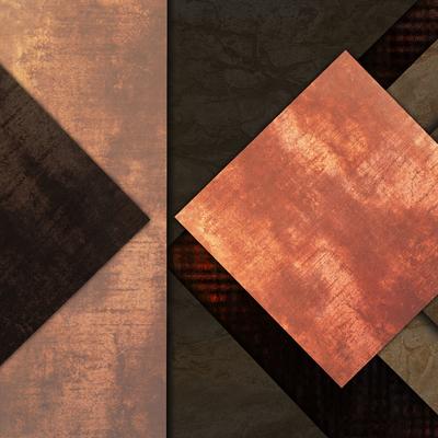 Abstrato Rústico Bronze - Estone 09