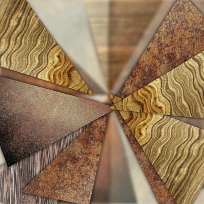 Abstrato Triângulos Dourados - Titan 02