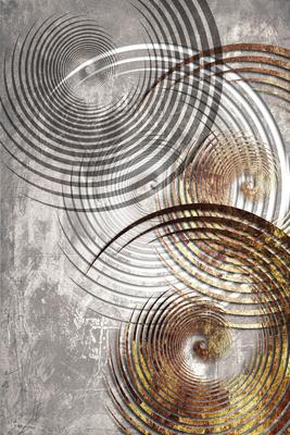 Abstrato Cinza Dourado - Grey 19