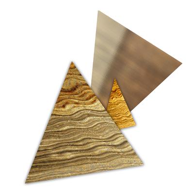 Abstrato Triângulos Ouro - 01