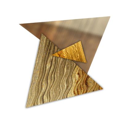 Abstrato Triângulos Ouro - 02