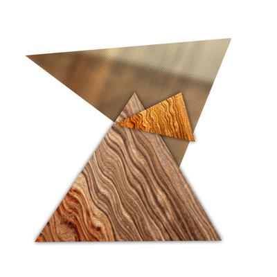 Abstrato Triângulos Cobre - 03