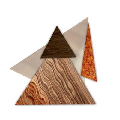 Abstrato Triângulos Cobre - 05