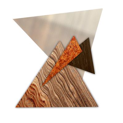 Abstrato Triângulos Cobre - 04