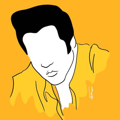 Elvis on velvet