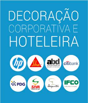 Decoração Corporativa Azul