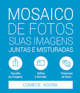 Mosaico de Fotos Azul